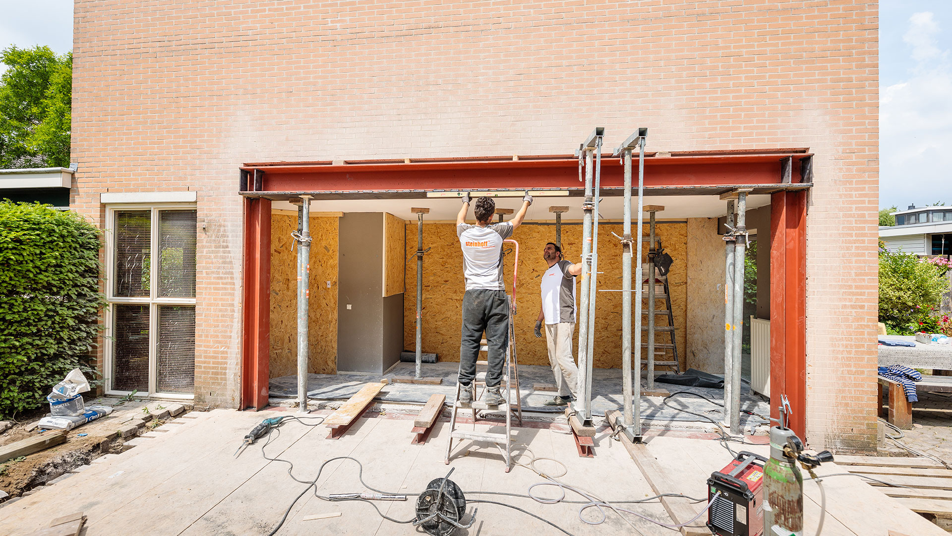Steinhoff -  Buitenmuur verwijderen - Constructie
