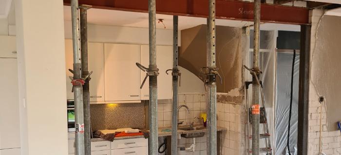 Steinhoff - Binnenmuur verwijderen - Uitvoering
