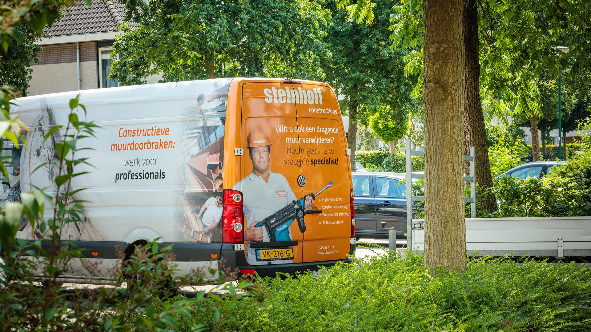 Steinhoff -  Draagmuur verwijderen - Bus